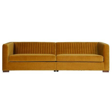 BePureHome Nouveau sofa xl mostarda di velluto