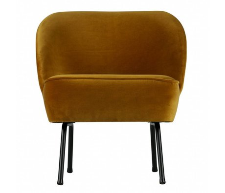 BePureHome Vogue fauteuil velours moutarde