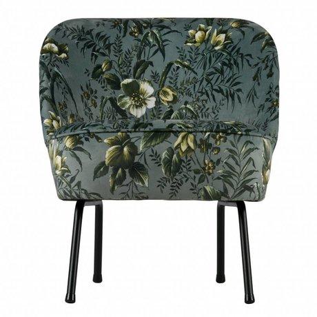 BePureHome Vogue sillón terciopelo gris amapola