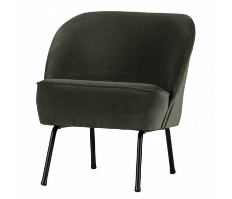 BePureHome Vogue fauteuil velours onyx