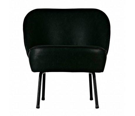 BePureHome Vogue fauteuil velours cuir noir