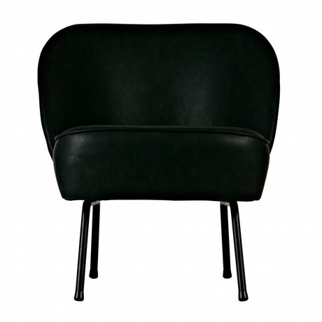BePureHome Vogue armchair velvet leather black