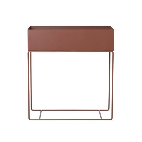 Ferm Living Box for plant red brown metal 60x25x65cm