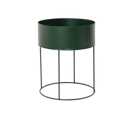 Ferm Living Box for plant around dark green metal ∅40x50cm