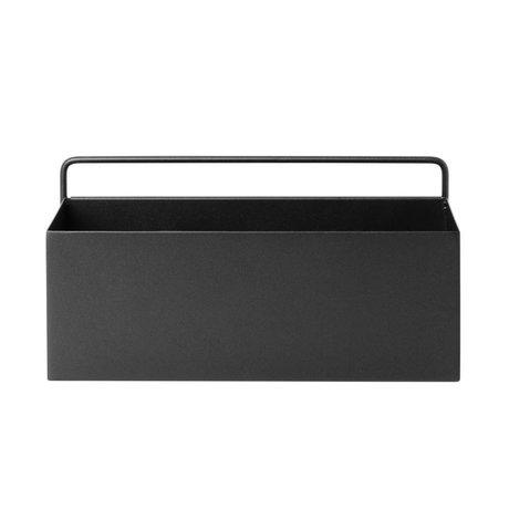 Ferm Living Plantenbox Wand Rechteck schwarz Metall 30,6x14,6x15,6cm