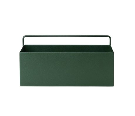 Ferm Living Plant box Wall Rectangle dark green metal 30,6x14,6x15,6cm