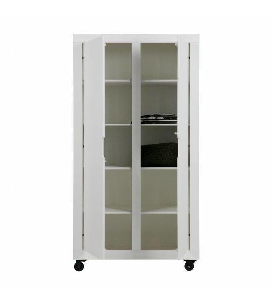 2 WOOOD armoire blanc pin Elon portes qSGzpMVU