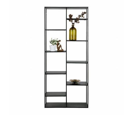WOOOD Cabinet juin métal noir 195x85x35cm