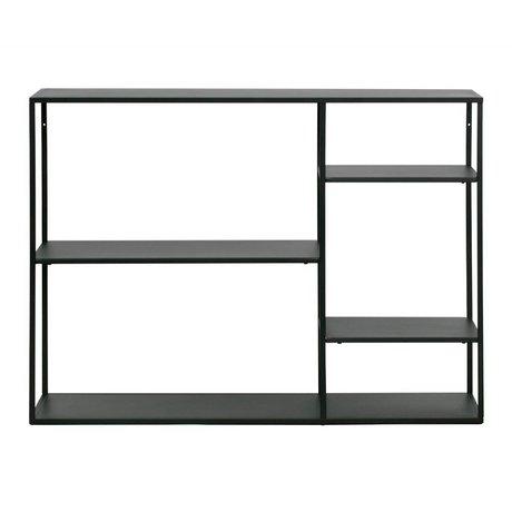 WOOOD Seitentisch Juni schwarz Metall 87,5x120x35cm
