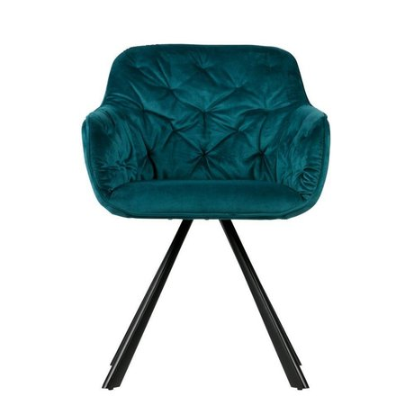 WOOOD Elaine dining chair velvet deep sea