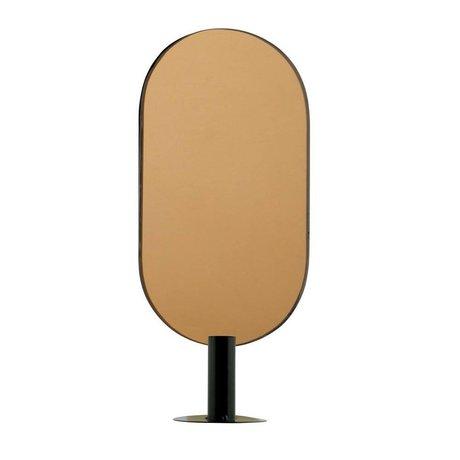 WOOOD Emily kerzenhalter mit spiegel straight metall schwarz