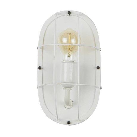 WOOOD Gabber wall lamp metal white