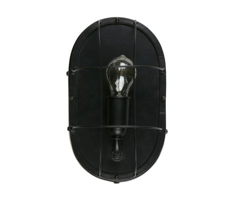 WOOOD Gabber wall lamp metal black