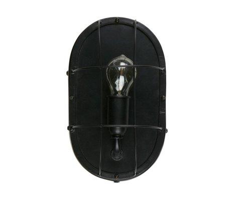 WOOOD Lampada da parete Gabber in metallo nero