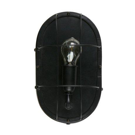 WOOOD Gabber wand lampe metall schwarz