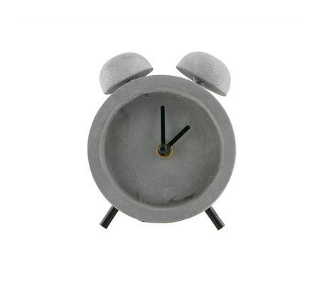 WOOOD Job clock concrete