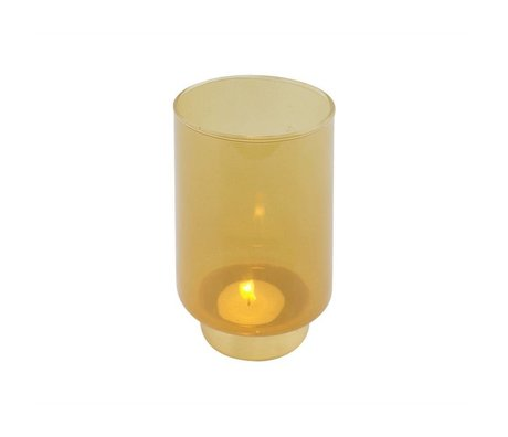 WOOOD Lola candle holder glass ocher l