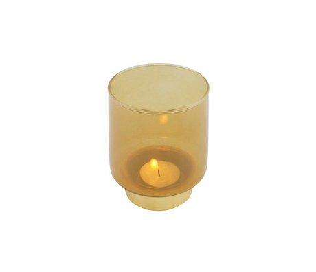 WOOOD Lola candle holder glass ocher m
