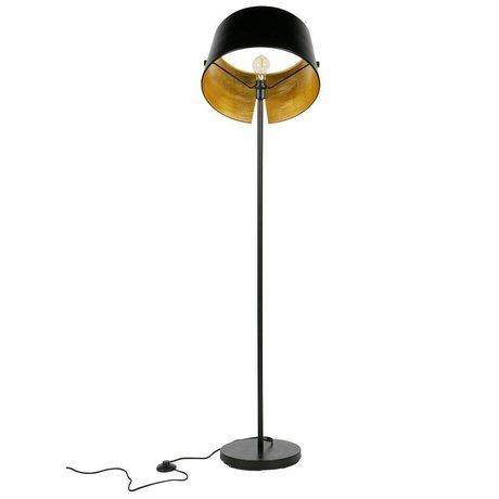WOOOD Pien lampada da terra in metallo nero