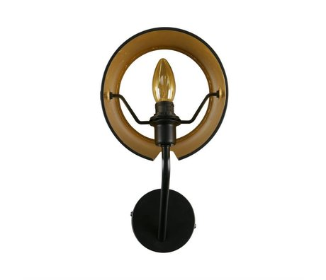 WOOOD Pien wall lamp metal black