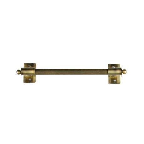 WOOOD Pleun wall rack metal brass antique m