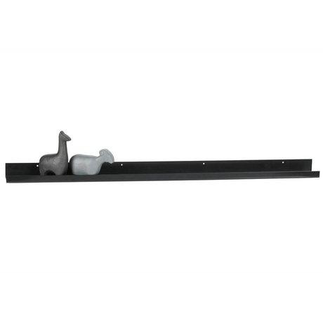 WOOOD Portafoto Ravi in metallo nero 120 cm