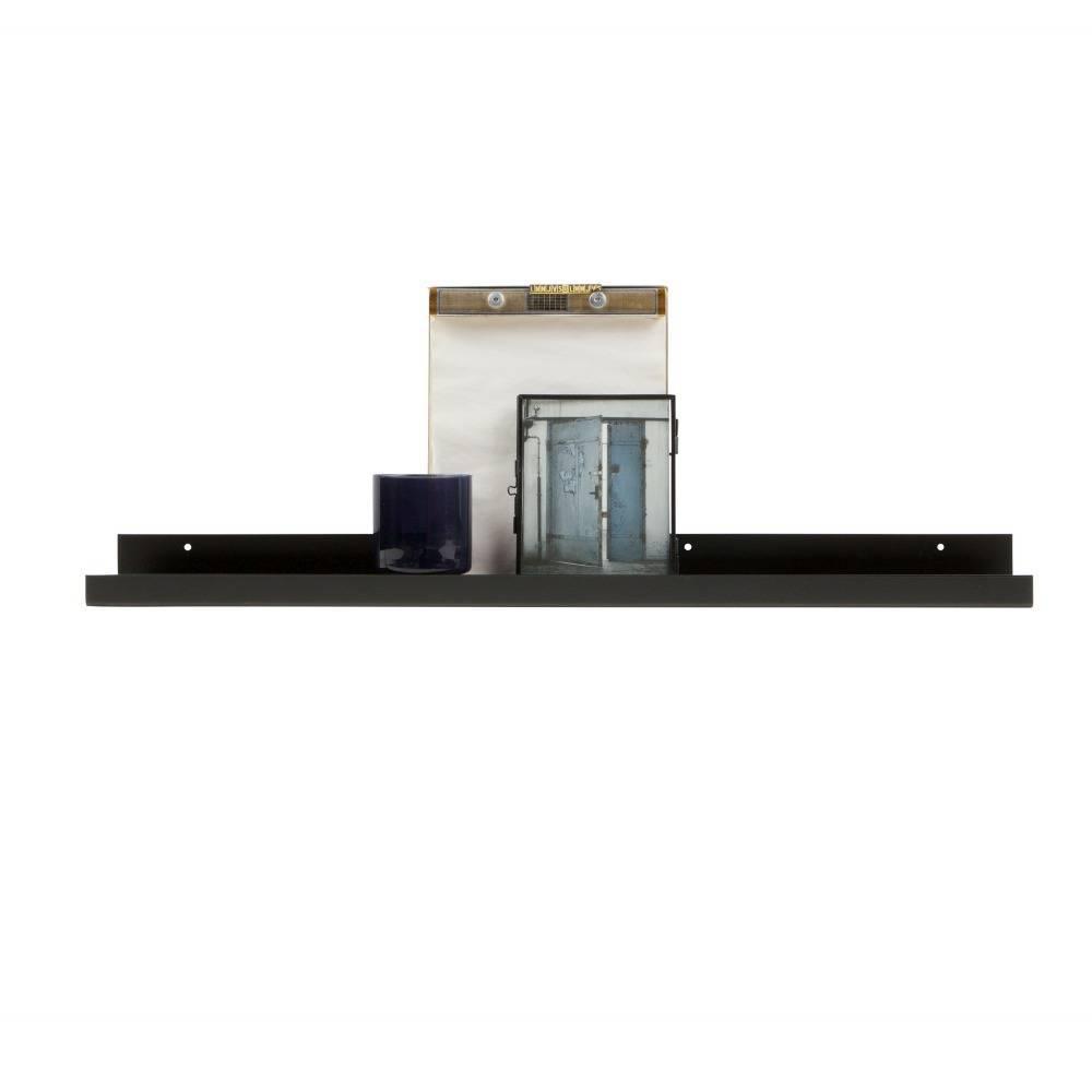 Tablette Salle De Bain 80 Cm woood cadre photo ravi en métal noir 80cm