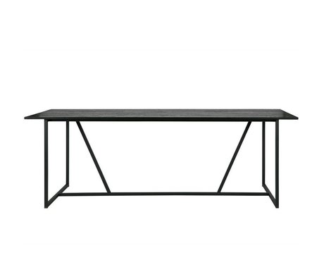 WOOOD Silas dining table brushed oak black