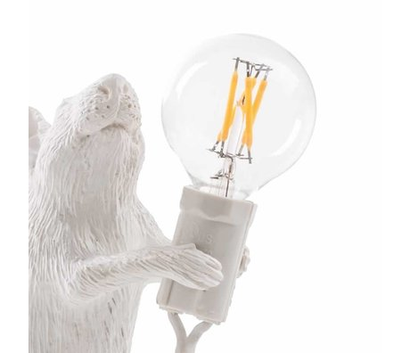 Seletti Bulb udskiftning LED til lampe mus hvid plast