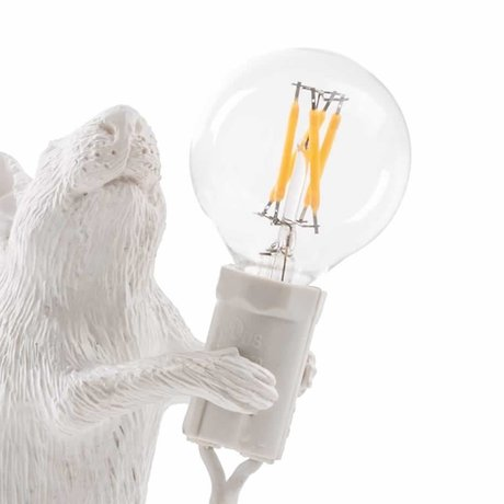 Seletti Bombilla de recambio LED para lampara ratón blanco plastico.