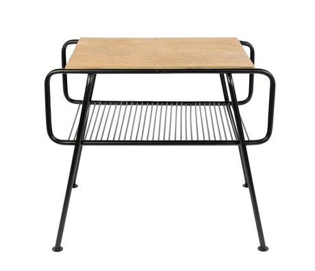 Zuiver Table d'appoint gunnik en laiton doré métal noir 50,5x36x43,5cm