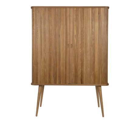 Zuiver Armadio da barbiere in legno naturale marrone 100x45x140cm