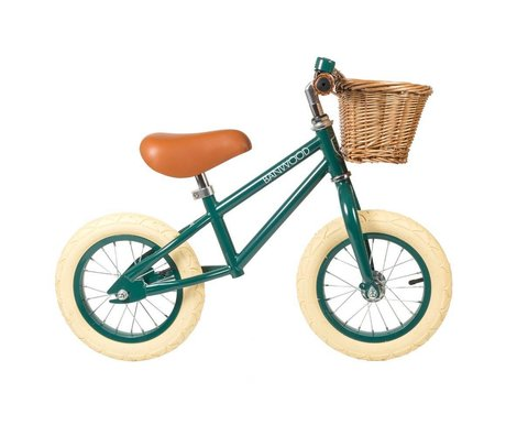 Banwood La rueda de los niños primero va de color verde oscuro 65x20x41cm