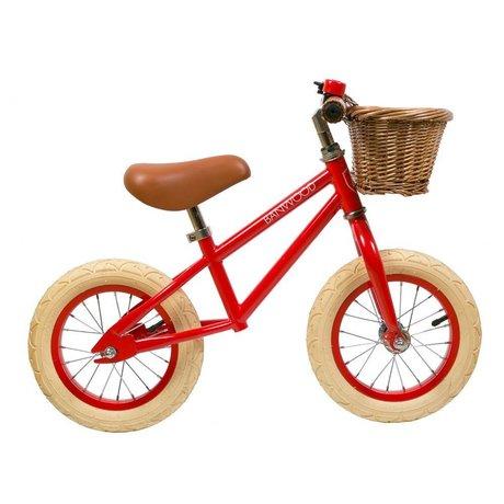 Banwood La ruota per bambini va prima rossa 65x20x41cm