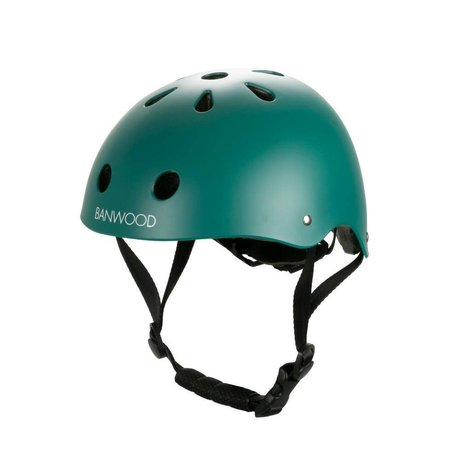 Banwood Casco de bicicleta infantil verde oscuro 24x21x17,5cm