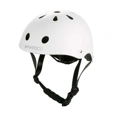 Banwood Casco da bicicletta bambino bianco 24x21x17,5cm