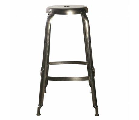 Housedoctor Definire sgabelli da bar in metallo, grigio, Ø36x75cm