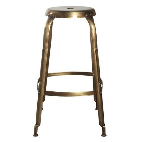 Housedoctor Definir taburetes de la barra de metal, oro, Ø36x75cm