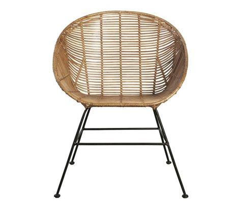 Housedoctor Retro lounge stol lavet af rattan, brun, 65,5x65x5x84,5cm