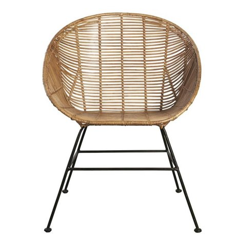 Housedoctor Retro lounge chair made of rattan, brown, 65,5x65x5x84,5cm
