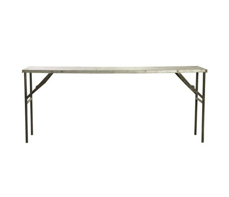 Housedoctor Market table made of metal, gray, 183x46x75cm