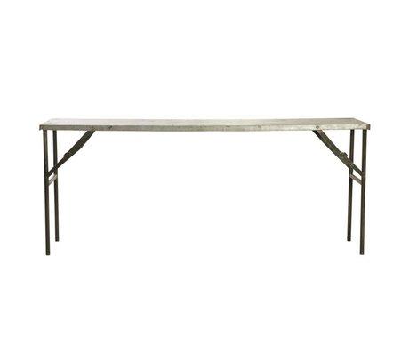 Housedoctor Tavolo Mercato in metallo, grigio, 183x46x75cm