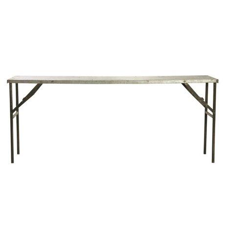 Housedoctor Tisch Market aus Metall, grau, 183x46x75cm