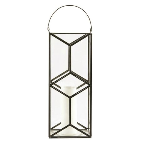 Housedoctor Lantern / Candle Holder Mozaik, mørk antik, 16,5x16,5x40cm