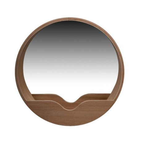 Zuiver Spiegel Round Wall aus Eiche, Ø40x8cm