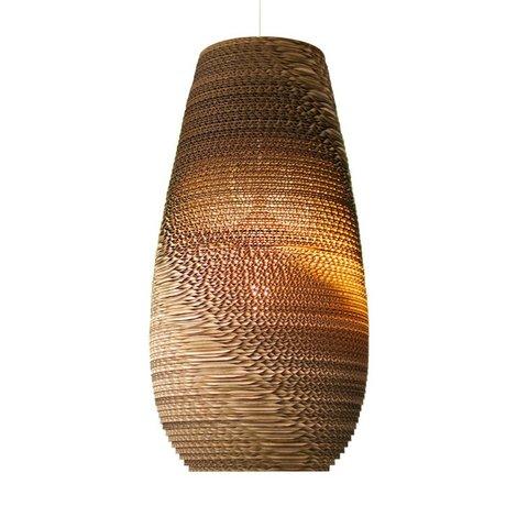 Graypants Hængende lampe Drop 18 pap, brun, Ø25x45cm