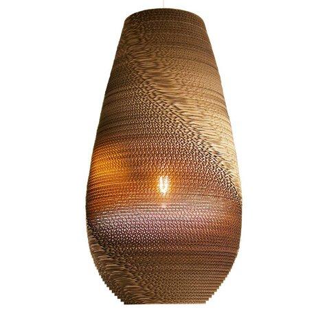 Graypants Hanging Lamp Drop 26 cardboard, brown, Ø36x65cm