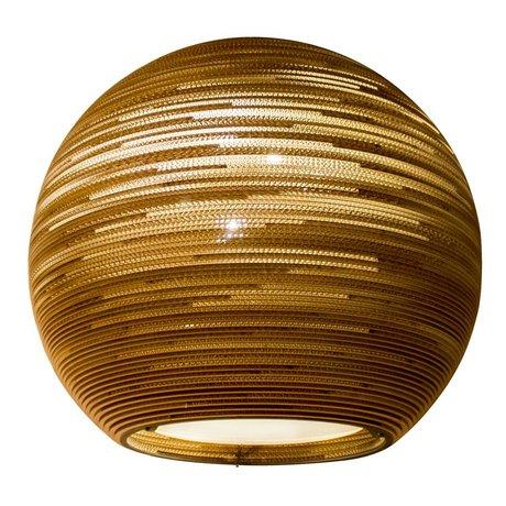 Graypants Hængende Lampe Sun 32 pap, brun, Ø81x71cm