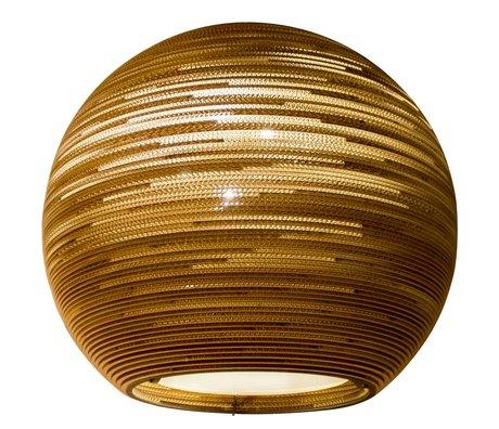 Graypants Hanging Lamp Sun 48 di cartone, marrone, Ø128x48cm