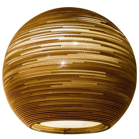 Graypants Hanging carton Lampe Sun 48, brun, Ø128x48cm